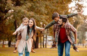 Life insurance for family of 4 smiling